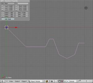 Blender showing my example vector model